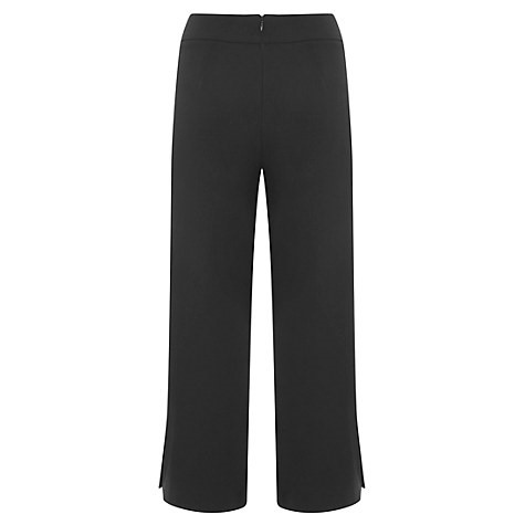 Mint Velvet Side Split Cropped Trousers, Black £89