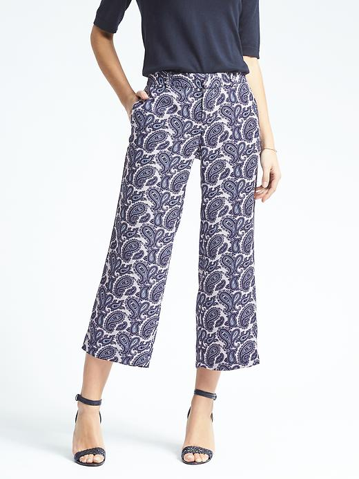 Blake-Fit Paisley Wide-Leg Crop Pant £59.50