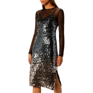 Mesh and sequin dress