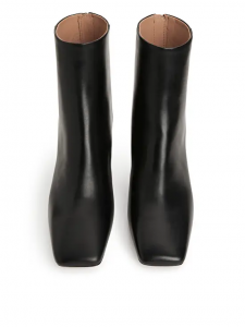 Arket Square-Toe Leather Boots £175