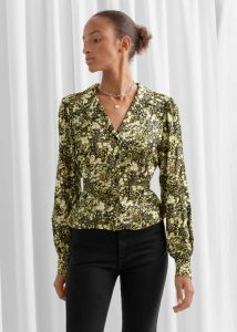Autumn style: & Other Stories V-Cut Floral Satin Blouse £55